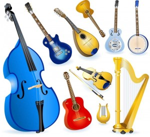 Different-String-Instruments-elements-vector-set