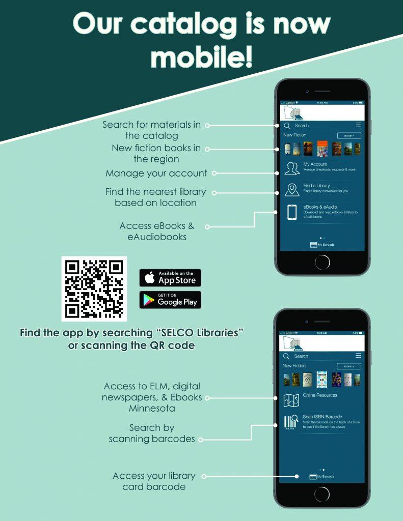 Library catalog on an app